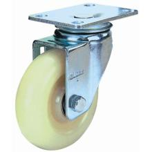 Roulette pivotante en nylon (blanc)