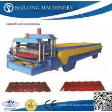 CE-geprüfte, vorgearbeitete verzinkte, gewellte Metall-Dachplatten-Fliesenrollen-Umformmaschinen