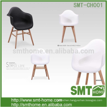 PP seat and wooden leg Modern design armchair /dining chair