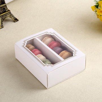 Cake gift paper box with window