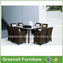 Wicker Rattan Plastic Dining Table and Chair
