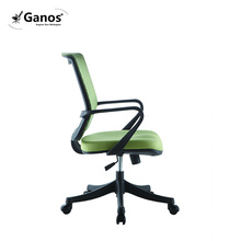 Staff chair fixed armrest plastic swivel mesh chair for staff