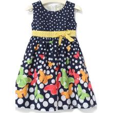 Vestido de la muchacha de la flor de la manera vestido en la ropa de los niños Sqd-148