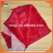 Piel de conejo teñida fábrica del color rojo de China
