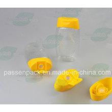 500g Pet Squeezable Honig-Flasche mit Silikon-Ventil-Kappe (PPC-PSVC-013)
