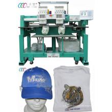 Béisbol / sombrero 12 agujas doble cabeza máquina de bordado tubular