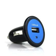 Solo enchufe del USB en cargador del coche para la salida 5V 1A de los teléfonos inteligentes