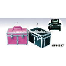 Лучшее качество! Профессиональный аллюминиевый Парикмахерская чемодан с 2 ящиками и 2 лотков внутри