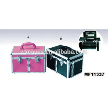 Beste Qualität! Professionelle Aluminium-Friseur Werkzeugkoffer mit 2 Schubladen und 2 Ablagen innen