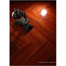 Plancher de stratifié absorbant le bruit d'érable de miroir de 12.3mm HDF