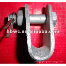 Electric power fittings for overhead line-Socket clevis eye