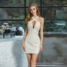 Weixin New Style Shein Halter Backless Wrap Sexy Bodycon Club Dresses