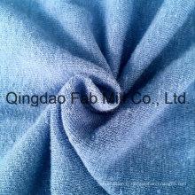 Tissu à manches courtes en chanvre / coton organique (QF13-0346)