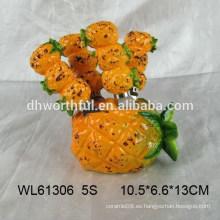 Venta al por mayor tenedor de fruta de cerámica