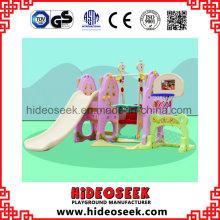 Kleine Kunststoffrutsche und Rutsche für Kleinkind mit Korb Hoop