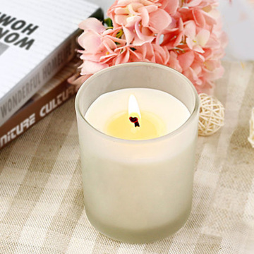 Scented Frosted White Glass Fyllda Soy Aroma Candle