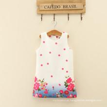 Lolita estilo floral bebê meninas vestidos casual na altura do joelho bonito feminino mulher roupas bebê meninas gola