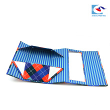 caja de embalaje plegable de la cartulina plegable del paquete plano para el regalo