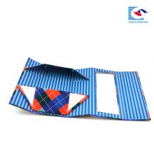 caixa de empacotamento dobrável dobrável do cartão do bloco liso para o presente