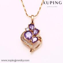 31735-Xuping bijoux en gros or fille cristal collier pendentif