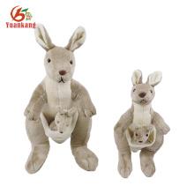 Venda quente de pelúcia brinquedo macio canguru de pelúcia