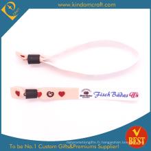 Bracelets tissés par coutume 2014fashion pour le cadeau de Promoyional