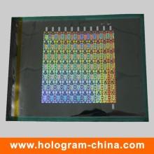 Anti-Fake Security 3D Laser Holographic Master