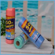 Gute Qualität Nichtgewebter Spunlace-Stoff Rolls für den Haushalt unter Verwendung