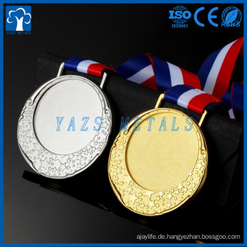 Großhandel laufende Medaillen, billige Sportmedaillen, 3d leere Medaillen mit Band