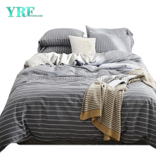 High Quality Hot Selling School Dorm 3 PCS Double Bed Cotton Fabric Stripe Bed Sheet Set