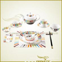 Bone China manchada de cerámica combinación de color de la serie
