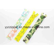 Impermeable de nylon de impresión de cremallera para las ventas