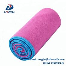 Fabricante profissional para ginásio yoga esportes toalha toalha de camurça de microfibra