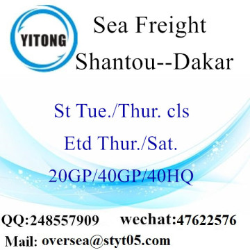 Shantou Port Sea Freight Shipping À Dakar
