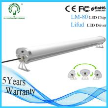 Carcaça de alumínio da suspensão Ce RoHS Tubo Tri-Proof do diodo emissor de luz de 1200mm 50W