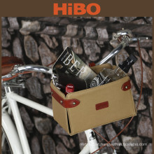Bicycle accessories wholesale waxed canvas removable bicycle basket