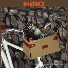 Велосипед аксессуары оптом вощеный съемный холст велосипед корзина