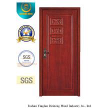 Porte en MDF de style simple avec sculpture pour la pièce (xcl-843)