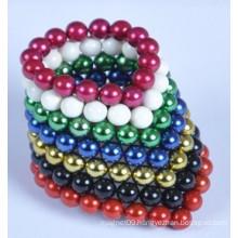 6mm hematite coloured balls beads