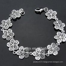 Vente en gros Bijoux Bracelet en argent sterling fleur mignonne pour Lady BSS-033