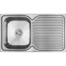 Middle East Hot Sales 10045 Single Bowl Single Drain 100*45*14cm Single Bowl Stainless Steel Sink Kitchen Sink 1000450