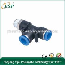 ESP pneumatique raccords té mâles en plastique à une touche, mini raccords de tuyaux