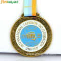 Customized Gold Medal with Fashion Ribbon