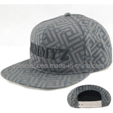 Leisure Flat Bill Print Embroidery Snapback Hat Cap (TMFL6393)