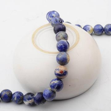14MM Loose natural Gemstone Sodalite Round Beads for Making jewelry