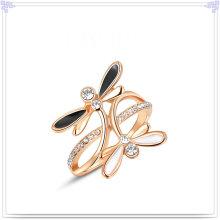 Joyería de la manera joyería cristalina anillo de aleación (al0034rg)