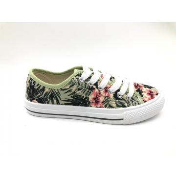 ladies fashion canvas injection sneaker