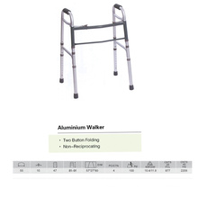 Two Button Folding Walker