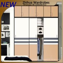Moderno design de guarda-roupa de madeira com 2 portas deslizantes