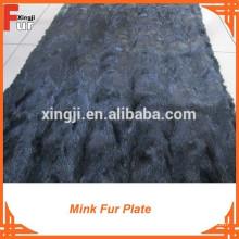 Placa de piel de visón de calidad superior Mink Golf Plate